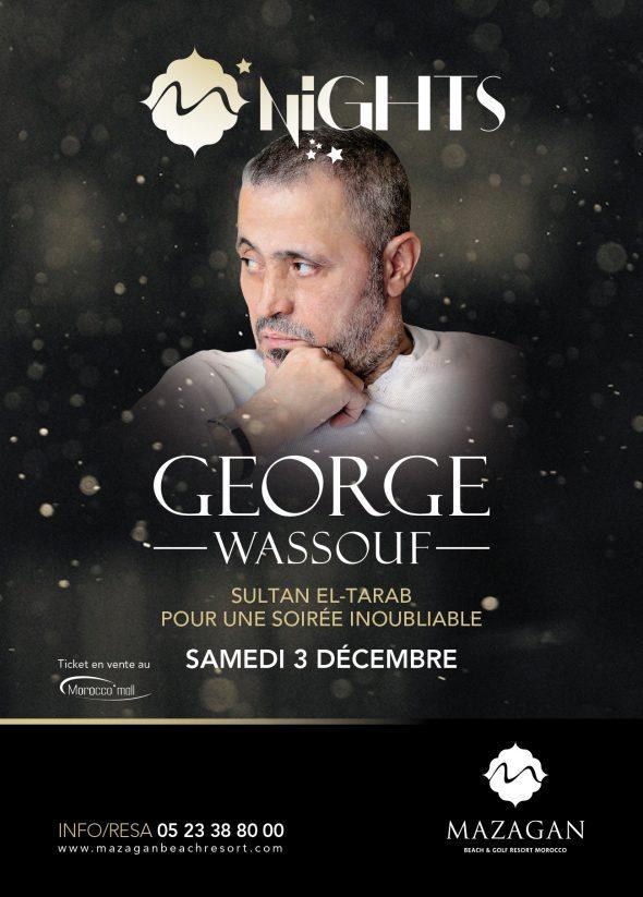 """ليالي مازاغان 2016 مع لأول مرة، """"سلطان الطرب"""" جورج وسوف، يوم السبت 3 ديسمبر 2016."""