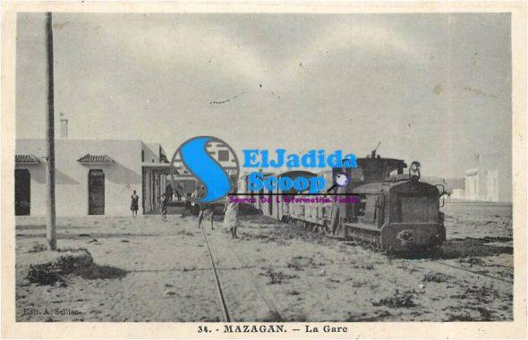 خط السكة الحديدية بالجديدة مطلع القرن العشرين.