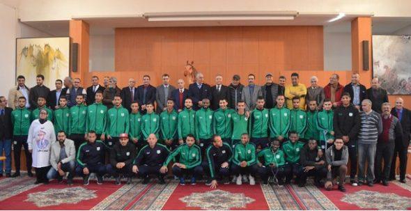 توقيع اتفاقية شراكة الدفاع الحسني الجديدي لكرة القدم والمجلس الإقليمي للجديدة