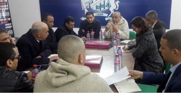 اجتماع أمني بقاعة الندوات الصحفية لملعب العبدي بالجديدة