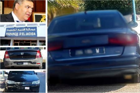 سيارات بعمالة الجديدة وجماعات ترابية تحمل خرقا للقانون علامة (W)