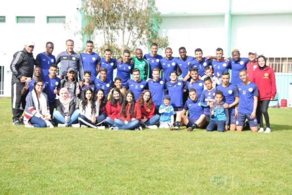 حضور أطفال جمعية السلام للحصة التدريبية لفريق الدفاع الحسني الجديدي